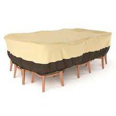 Чехол для комплекта мебели (стол + стулья) БЕЖ 220 х 150 х 60 см