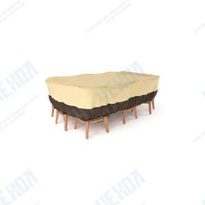 Чехол для комплекта мебели (стол + стулья) БЕЖ 274 х 208 х 60 см