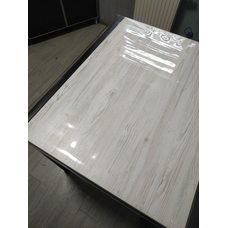 Гибкое стекло на стол толщина 0,8мм  60см х 120см