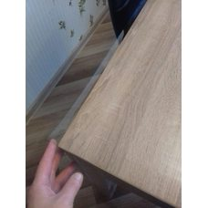Гибкое стекло на стол толщина 0,8мм  80см х 120см