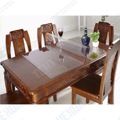 Прозрачная силиконовая накладка на стол из ПВХ для мата или глянца
