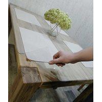 Прозрачная силиконовая накладка на стол из ПВХ  2 мм 100см х 260см