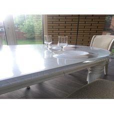 Накладка прозрачная на овальный стол 120см х 170см
