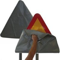 Чехол на дорожный знак треугольник 900 мм