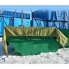 Тент полог Брезент ВО 450г/м2 с люверсами для контейнеров. Цвет хаки.