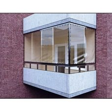 Утепление балкона прозрачной ПВХ пленкой