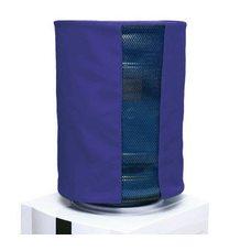 Чехол однотонный с окном синий