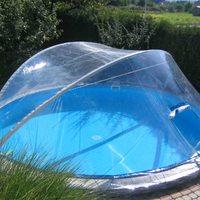 Прозрачный чехол ПВХ для бассейна
