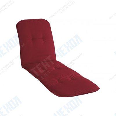 Подушка для шезлонга бордовая в размере 193х60х5см, вес 1.200 г.