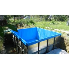 Вкладыш из прочной пвх для садовых бассейнов