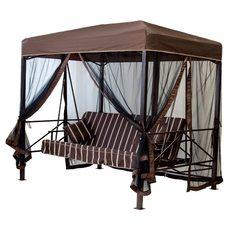 Тент крыша с москитной сеткой на качели-павильон садовые Эдельвейс