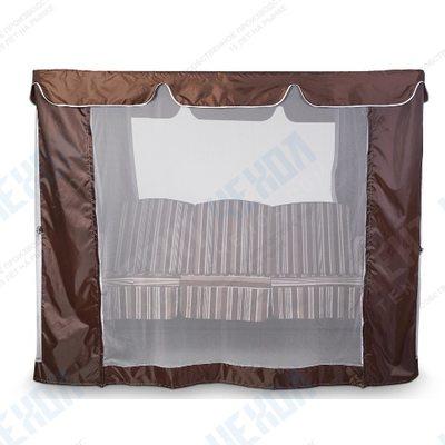 Тент-шатер с москитной сеткой для садовых качелей (с прямой крышей)