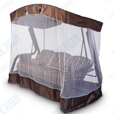 Тент с москитной сеткой для садовых качелей (с дугообразной крышей)