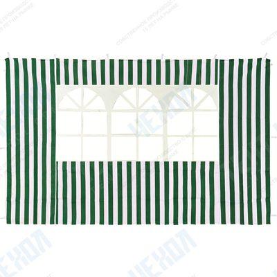 Стенка с окошком (green glade) 3м, зелено-белая
