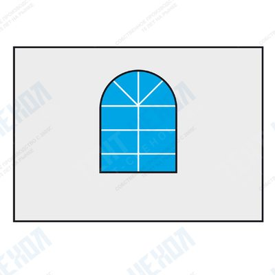 "Стенка 4м с окошком для шатра ""пагода"" (gazebo) shc-cw-600/4m"
