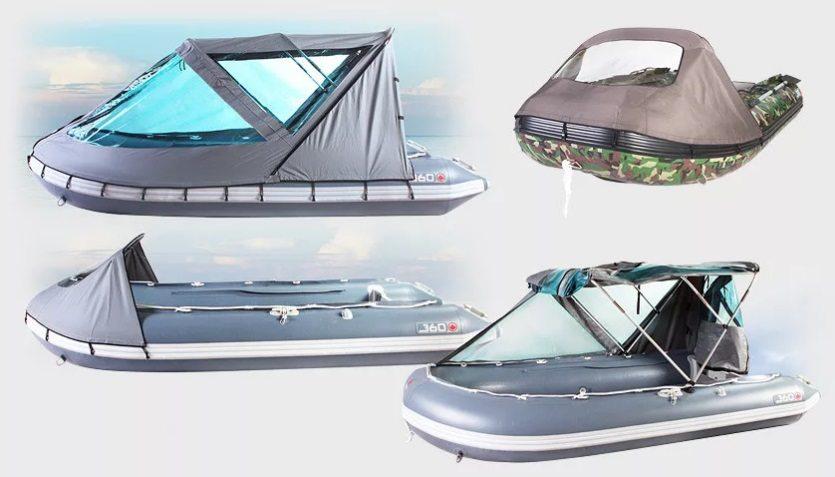 Тент для лодки ходовой