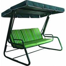 Комплект для качелей с сиденьем 175 см. Расцветка 4 (зелёно-белая полоска), матрас + тент