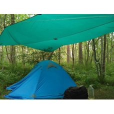 Тент туристический btrace 4х6 м зеленый