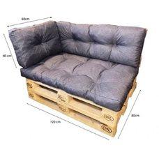 Подушки и матрас на угловой диван из поддон 120x80x40 комплект