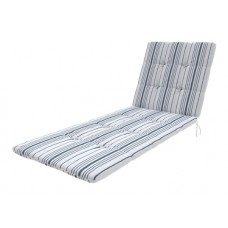Матрас для шезлонга Relax белый, серый, 60х170 см