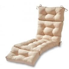 Подушка на шезлонг бежевая 195х60