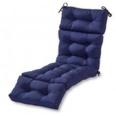 Подушка на шезлонг синяя 195х60