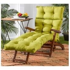 Подушка на шезлонг зеленая 195х60