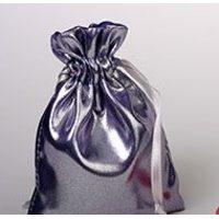 Фиолетовый мешочек из спандекса с металлическим блеском