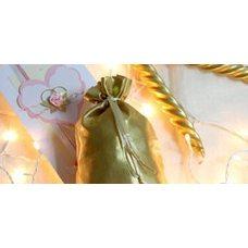 Таросик из золотой парчи с тесемкой