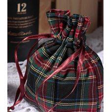 Мешочки из шотландки 10х15 см