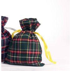 Мешочки из шотландки 15х20 см