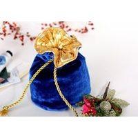 Бархатные мешочки с парчовым подкладом и золотой тесьмой