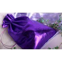 Праздничные подарочные мешочки из цветной парчи