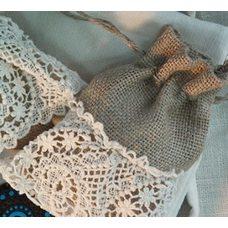 Винтажные мешочки из натурального джута (различные размеры, на заказ)