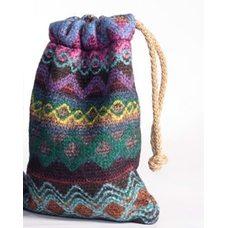 Мешочки и сумки из вязаной шерстяной ткани