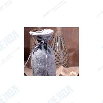 Двухслойный мешочек из серого сукна и бортовки с дном
