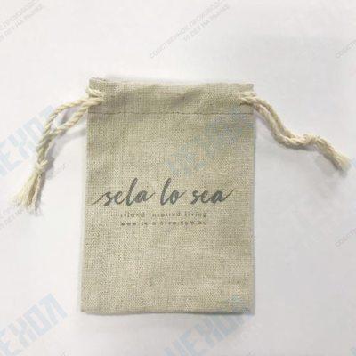 Джутовая упаковка под ювелирные изделия с логотипом