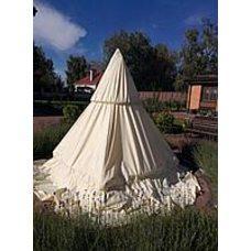 Прозрачный чехол на фонтан с каркасом