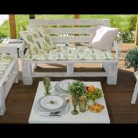 Подушка на 2-местную скамейку этель: кактусы, 45 × 120 см