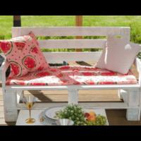 Подушка на 2-местную скамейку этель «арбузы», 45 × 120 см