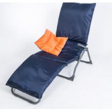 Подушка-матрас водоотталкивающ. 192х60х5 см, оксфорд 100% пэ, черно-синий