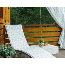 Подушка на шезлонг «этель» листья 55×190+2 см