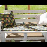 Подушка на двухместную скамейку «этель» ананасы, 45×120 см