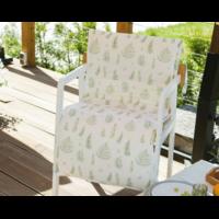 Подушка на уличное кресло «Этель» листья 50×100+2 см