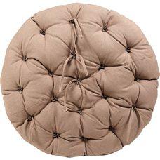 Матрац для кресла Папасан, экошерсть, коричневый