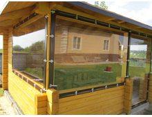 Мягкие окна из ПВХ 500 мкр. (окантовка ПВХ), 1 м.кв.