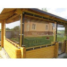 Мягкие окна из пвх 1000 мкр. (окантовка oxford), 1 м.Кв.