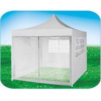 Стенка-сетка с «молнией»-входом 4.5м, белая, для быстросборных шатров белый