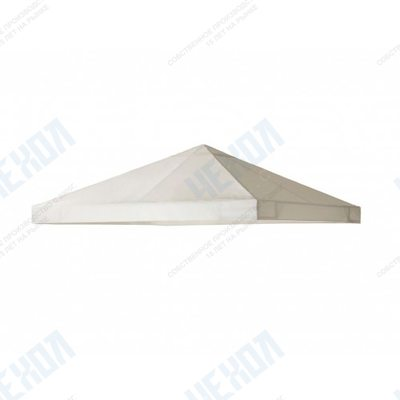 Крыша для квадратной беседки 300х300 см с окантовкой бежевая
