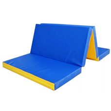Мат гимнастический складной в 4 раза поролон плотн. 25 кг/м3 (р-р 1х2х0.10)